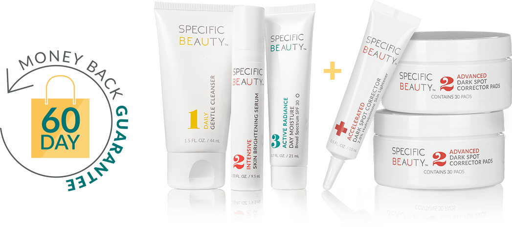 Live Even System - 60 day money back guranetee means no risk. Safe products that are great for senstitive skin.