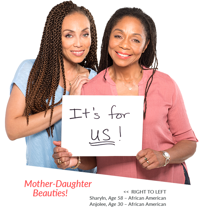 All ages can use Specific Beauty - Skincare for women of color of all ages - mother daughter bonding