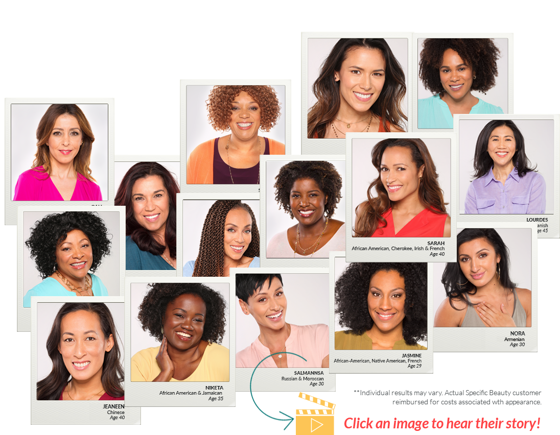Meet Our Specific Beauties - Watch their stories & Get Inspired to change the appearance and feel of your skin today!