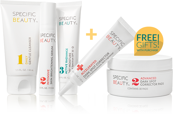 Specific Beauty Live Even Brighter System brightens, smooths and helps restore clarity to uneven skin tone - Stop dark marks